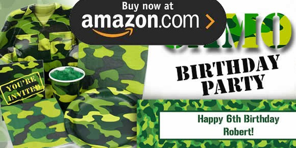 Army Camo Party Supplies