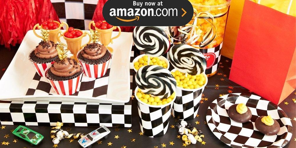 Black and White Check Party Supplies