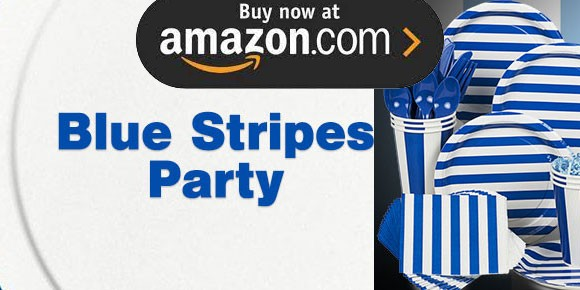 Blue Stripes Party Supplies