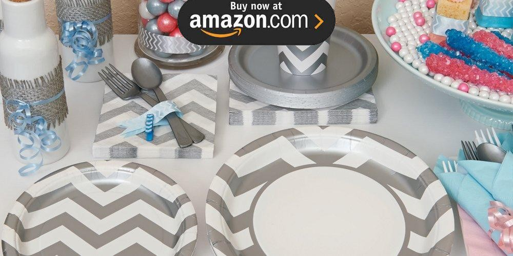 Chevron Silver Party Supplies
