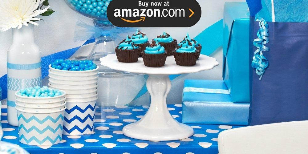 Chevron True Blue Party Supplies