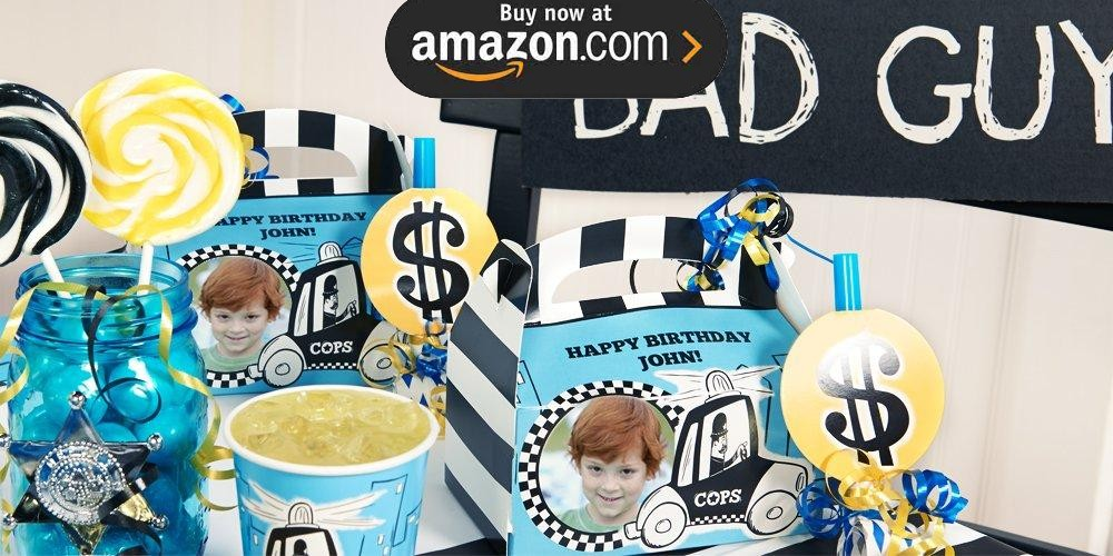 Cops and Robbers Personalized Party Supplies