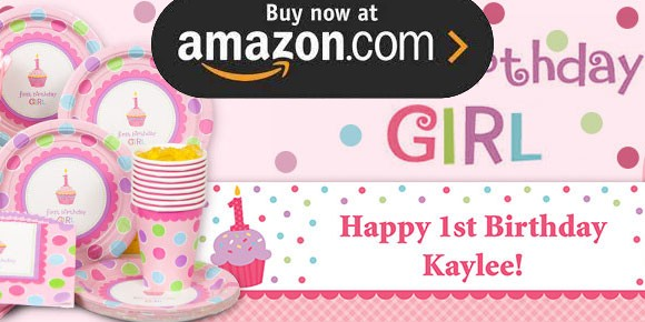 Cupcake 1st Girl Party Supplies