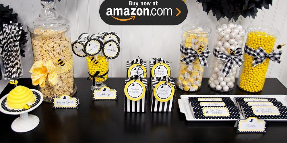 Baby shower table decorations candy table for baby shower decoration - Diy Bumblebee Party Supplies Kids Party Supplies