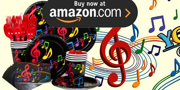 Dancing Music Party Supplies