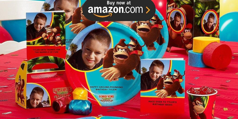 Donkey Kong Personalized Party Supplies