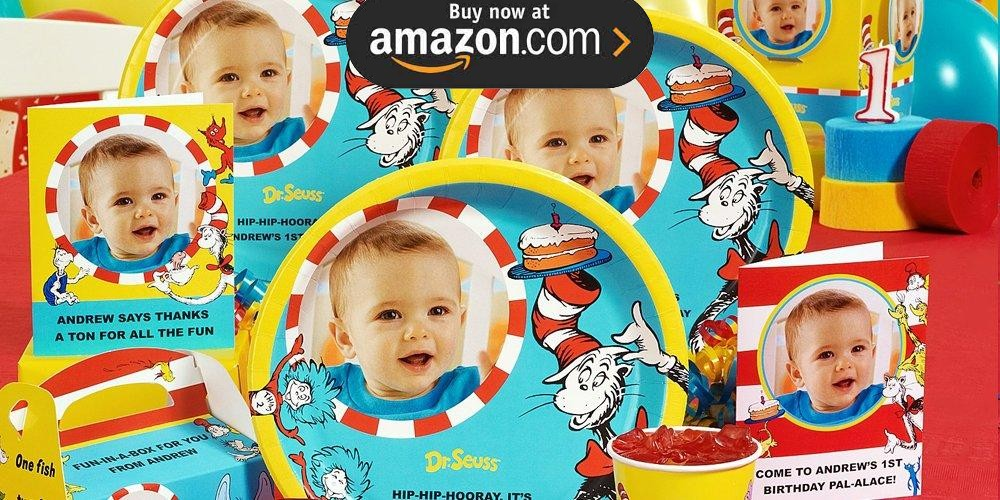 Dr Seuss 1st Birthday Personalized Party Supplies