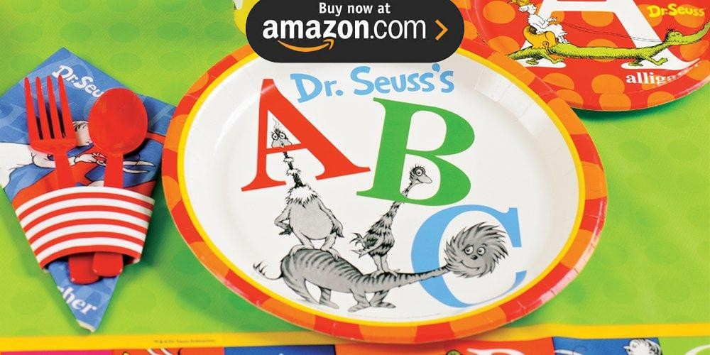 Dr Seuss ABC 1st Birthday Party Supplies