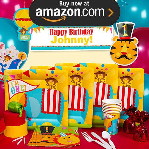 Fisher Price 1st Birthday Circus Party Supplies
