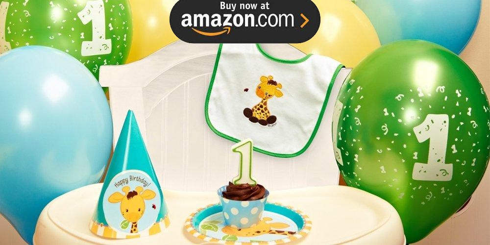 Giraffe 1st Birthday Party Supplies