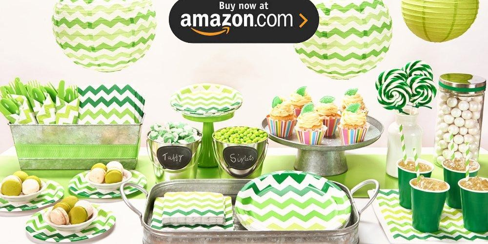 Green Chevron Party Supplies