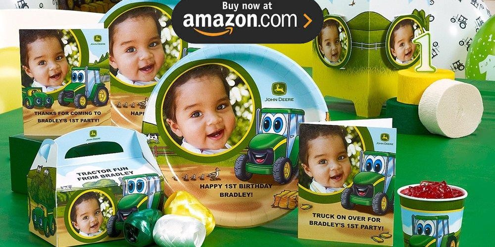 Johnny Tractor 1st Personalized Party Supplies - Kids Party Supplies