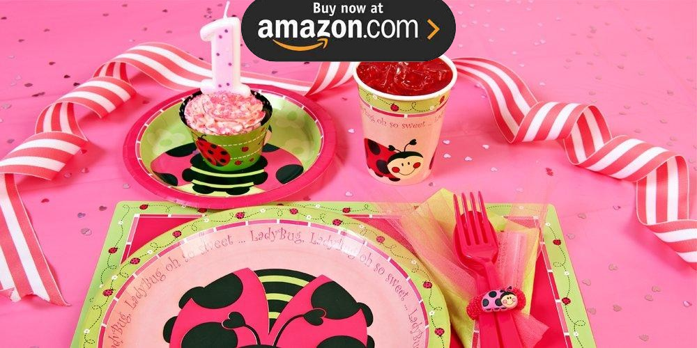 Ladybug Oh So Sweet 1st Birthday Party Supplies