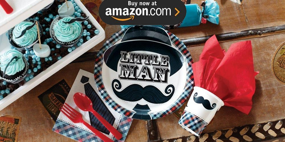 Little Man Mustache Party Supplies
