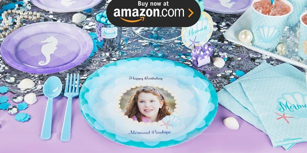 Mermaids Under the Sea Personalized Party Supplies