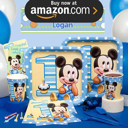 Mickey Mouse First Birthday Party Supplies