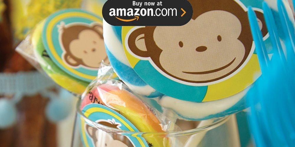 Mod Monkey Blue Party Supplies