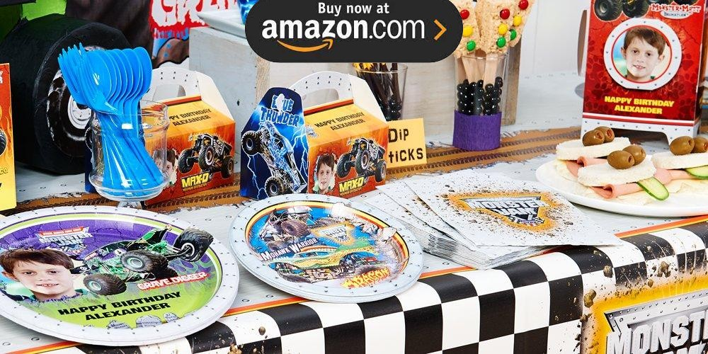 Monster Jam 3D Personalized Party Supplies