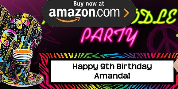 Neon Doodle Party Supplies