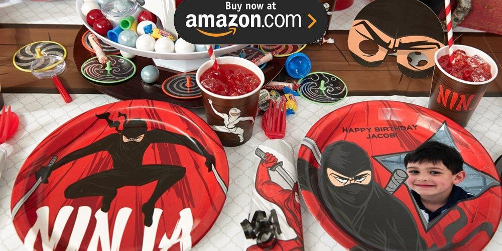 Ninja Warrior Personalized Party Supplies
