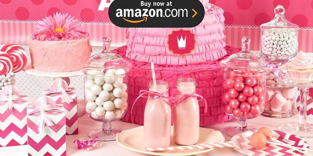 Pink 1st Birthday Party Supplies