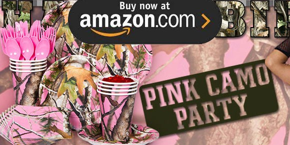 Pink Camouflage Party Supplies