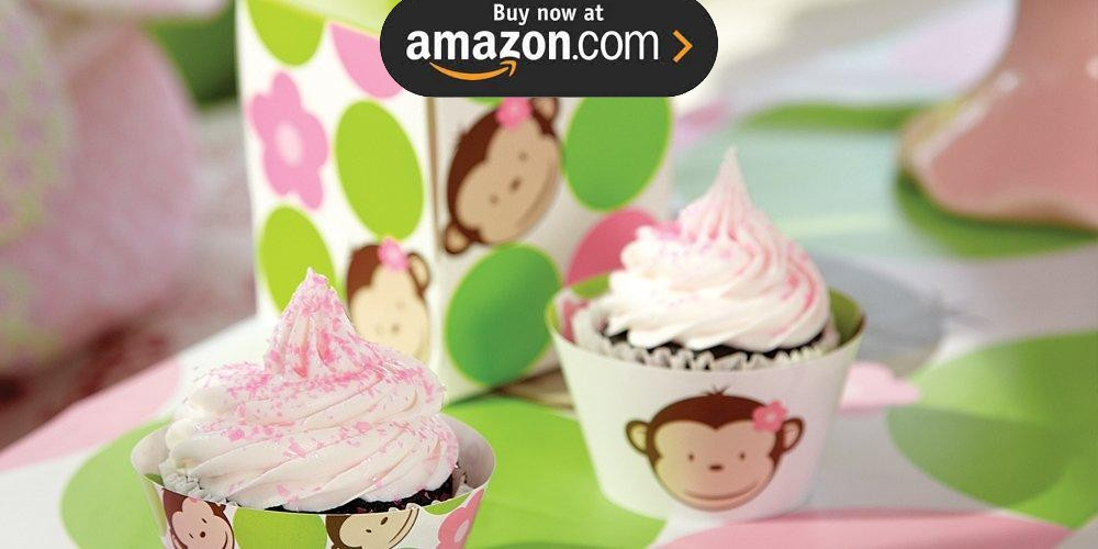 Pink Mod Monkey 1st Birthday Party Supplies