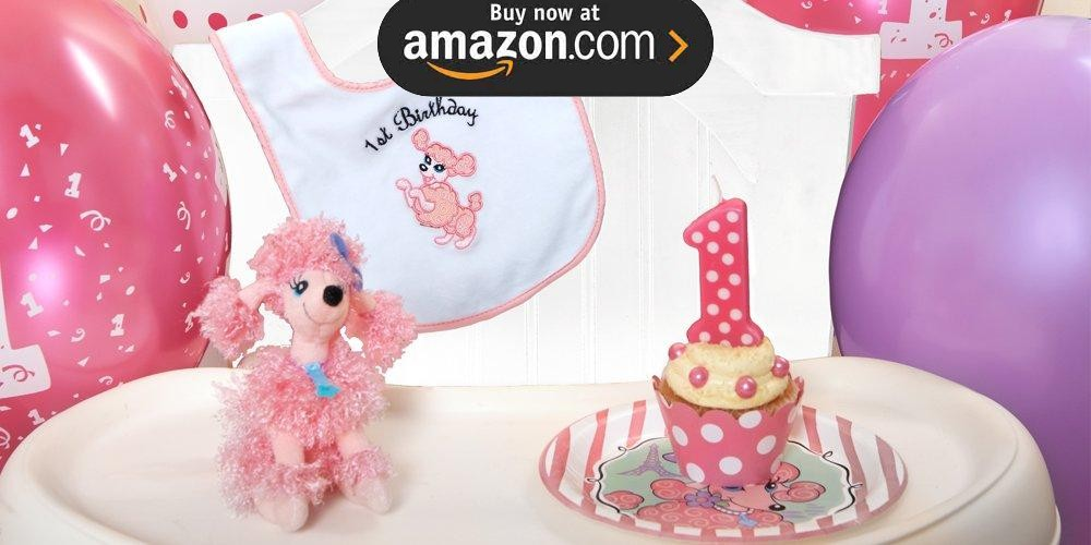 Pink Poodle in Paris Personalized Party Supplies