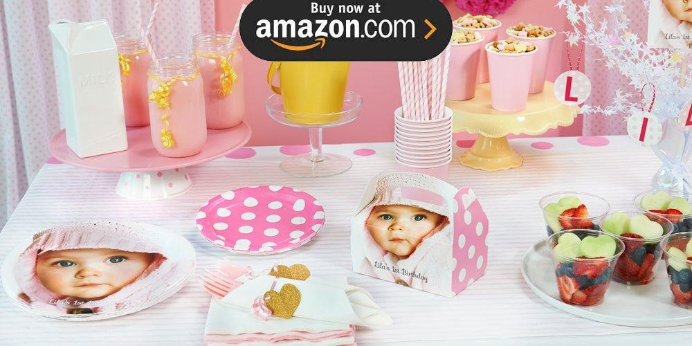Pink and White Dot Design Your Own Party Supplies