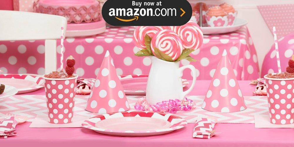 Pink and White Dots Party Supplies