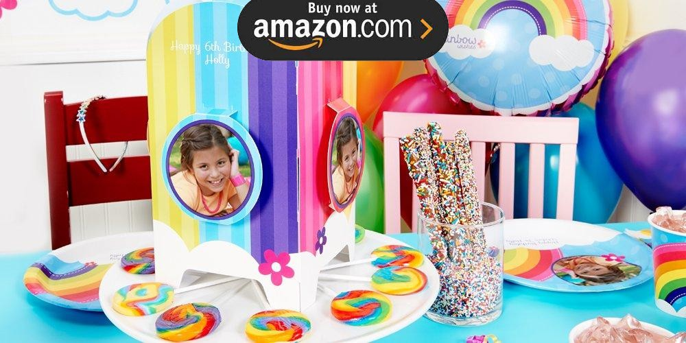 Rainbow Wishes Personalized Party Supplies