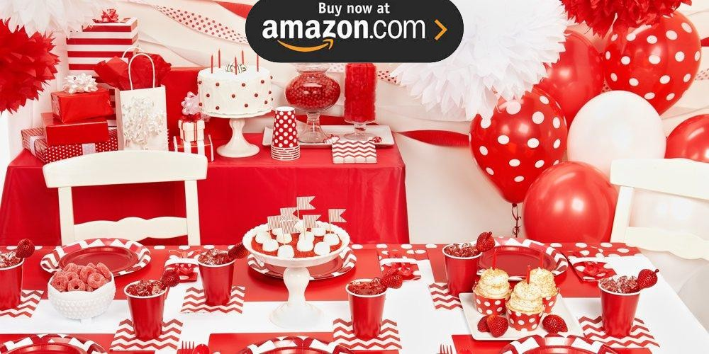 Red and White Dots Party Supplies