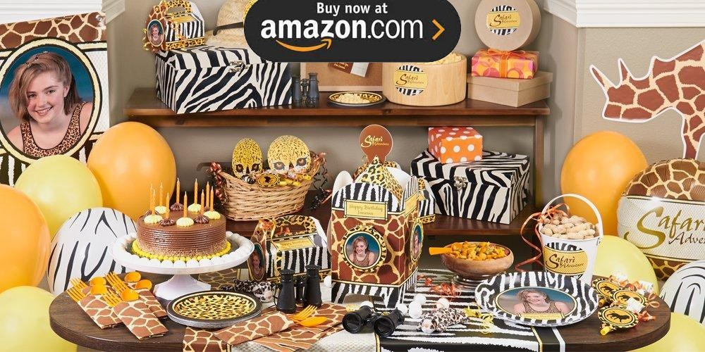 Safari Adventure Personalized Party Supplies