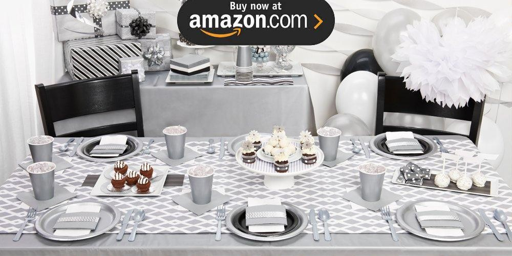 Shimmering Silver Party Supplies