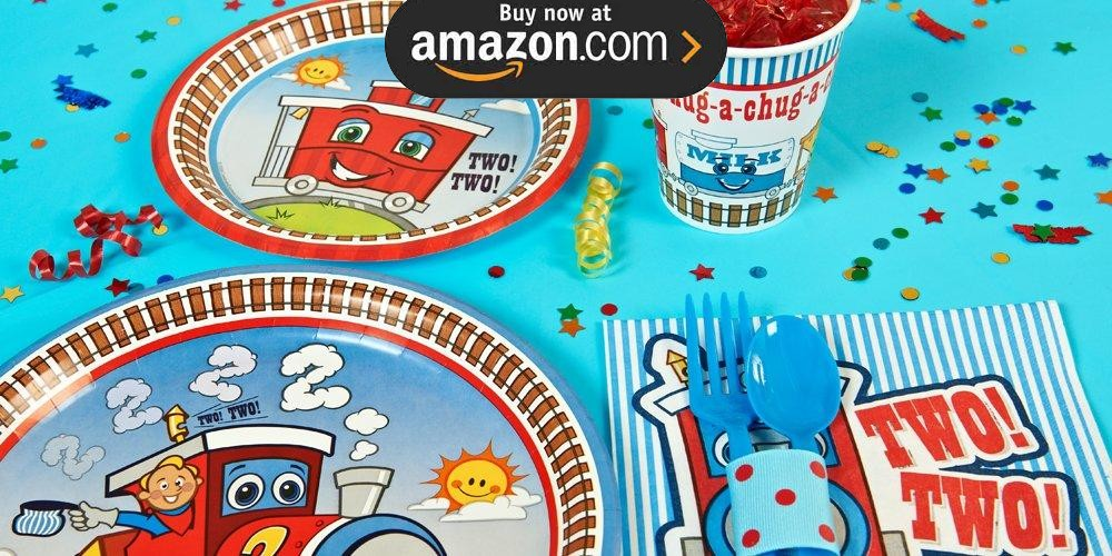 Two Train 2nd Birthday Party Supplies