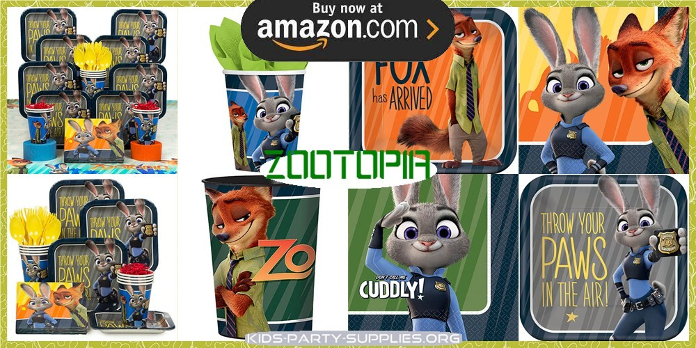 Zootopia Party Supplies