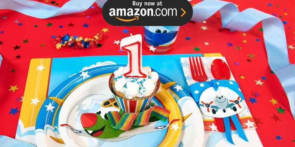 Airplane Adventure 1st Birthday Party Supplies