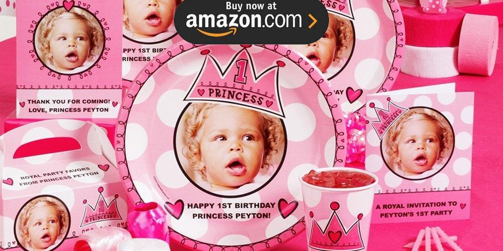 Birthday Princess 1st Birthday Personalized Party Supplies
