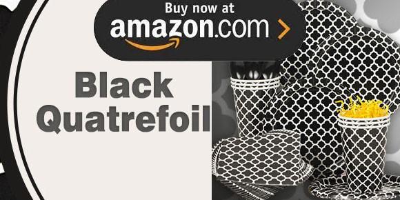 Black Quatrefoil Party Supplies