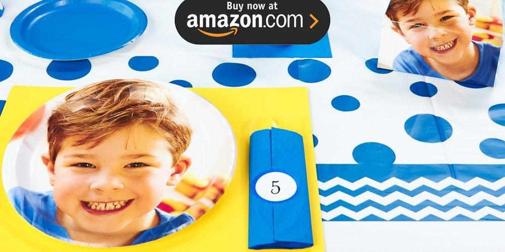 Blue and White Chevron Design Your Own Party Supplies