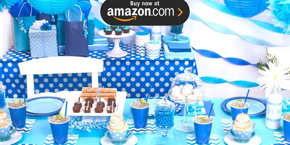 Blue and White Dots Party Supplies