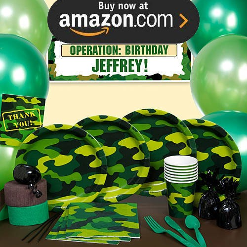 Camo Gear Party Supplies