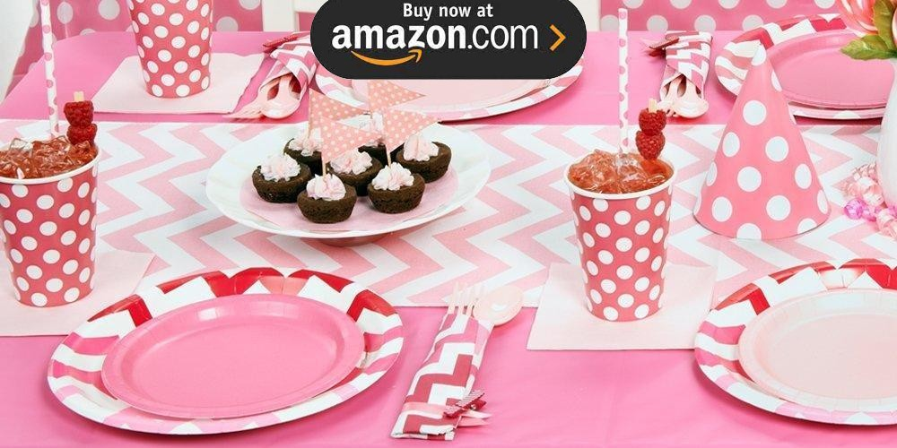 Chevron Pink Party Supplies