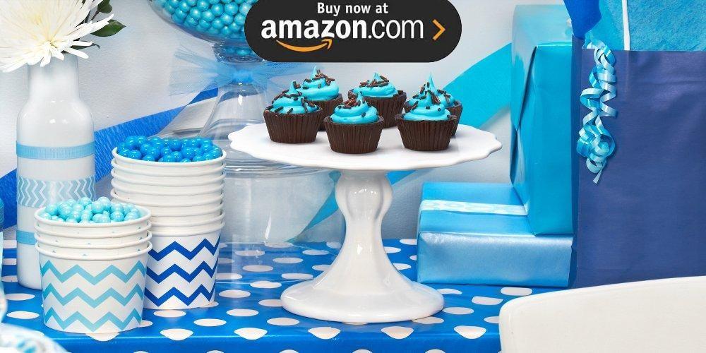 Chevron True Blue Party Supplies