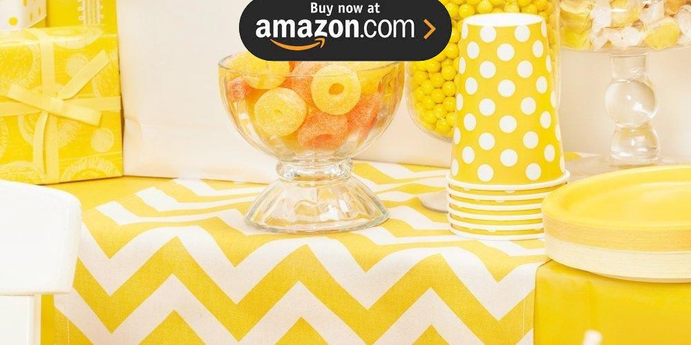Chevron Yellow Party Supplies