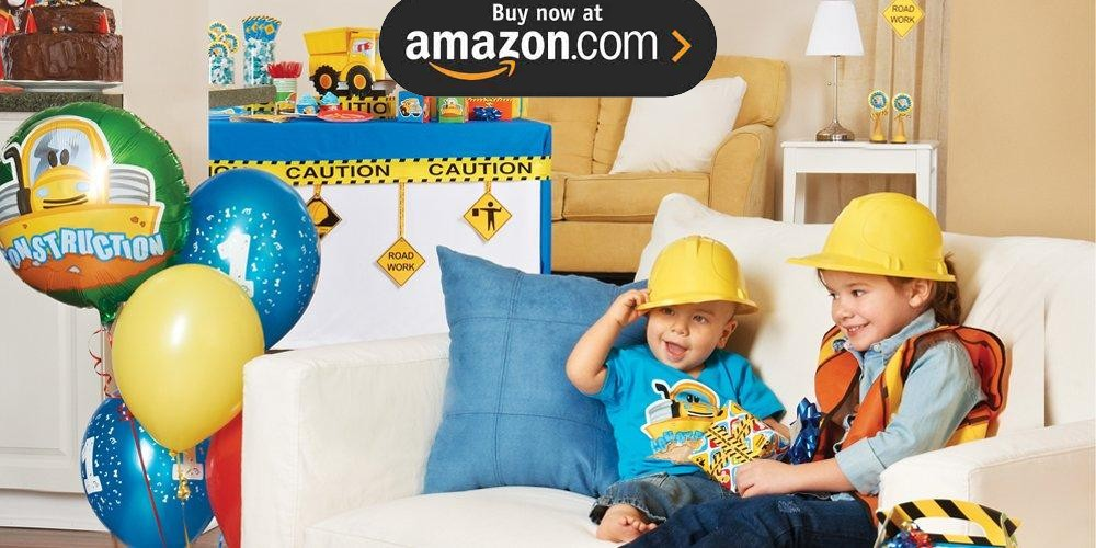 Construction Pals 1st Birthday Party Supplies