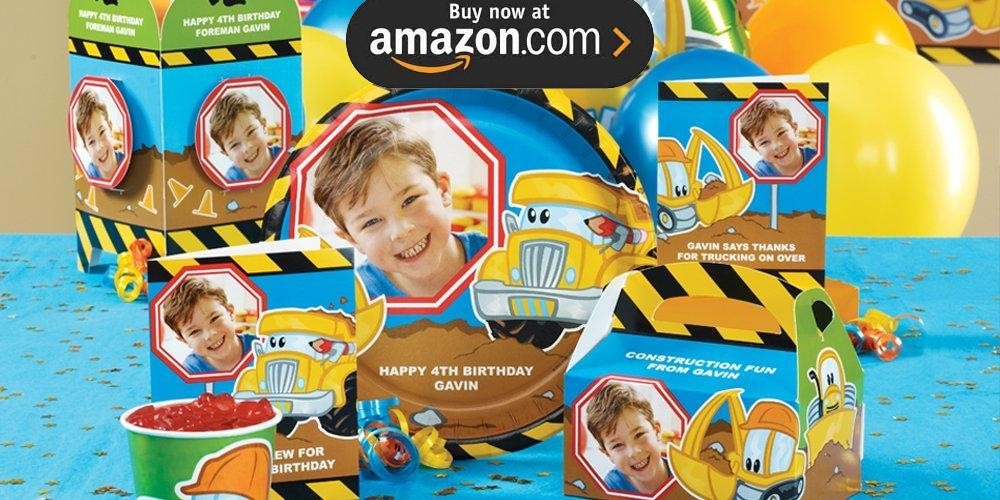 Construction Pals Personalized Party Supplies