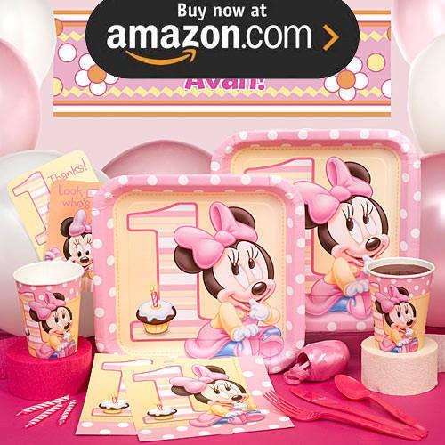 Disney Minnies 1st Party Supplies