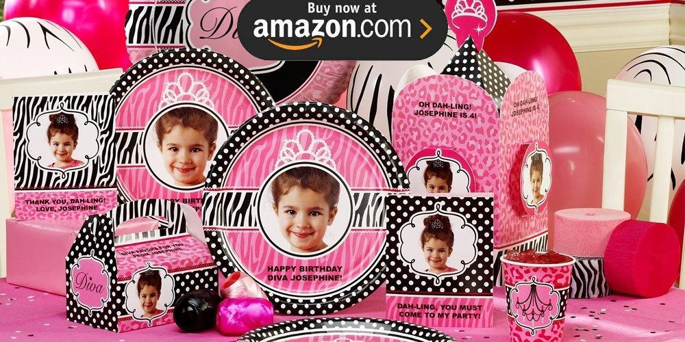 Diva Zebra Print Personalized Party Supplies