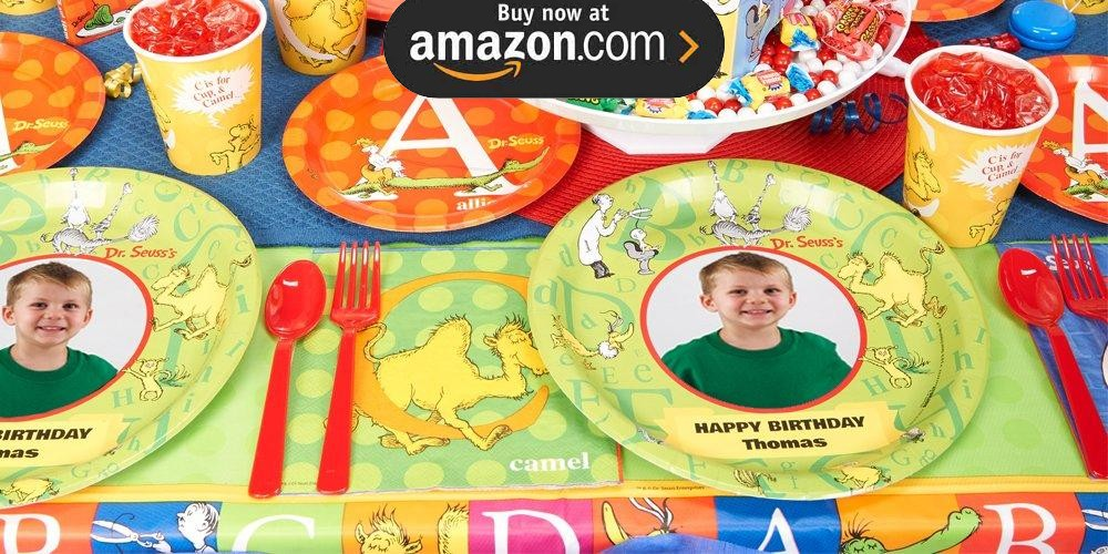 Dr Seuss ABC Personalized Party Supplies